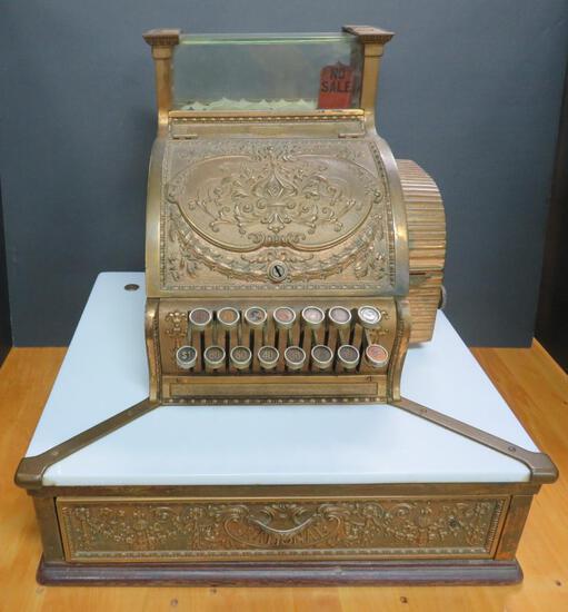 Barbershop Brass cash register, National, 52 1/4, #459509