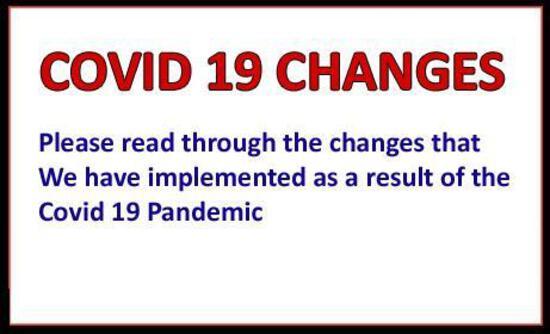 NEW COVID 19 PROTOCOLS - PLEASE READ