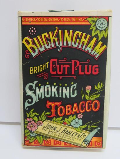 Buckingham Bright Cut Plug Smoking Tobacco pack, Bagley, full with tag, 1 1/4 oz