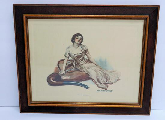 "James Montgomery Flagg artwork, What more do you Want?, framed 16"" x 13 1/4"""