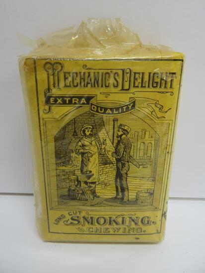 Mechanic's Delight Smoking and Chewing Tobacco, paper package full, Lorillard Co