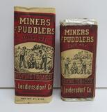 Two sizes of Miners and Puddlers Long Cut tobacco packs, Leidersdorf Co Milw