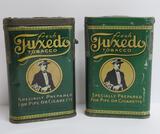 Two Tuxedo tobacco pocket tins, 4 1/2