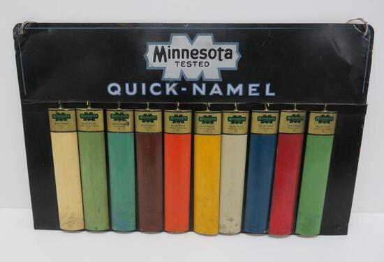 "Minnesota Quick-namel Paint advertising sign, 19 1/2"" x 12"""