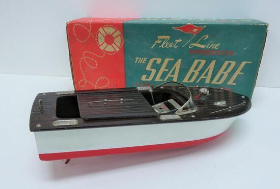 Fleet Line Speedboat toy in box, The Sea Babe