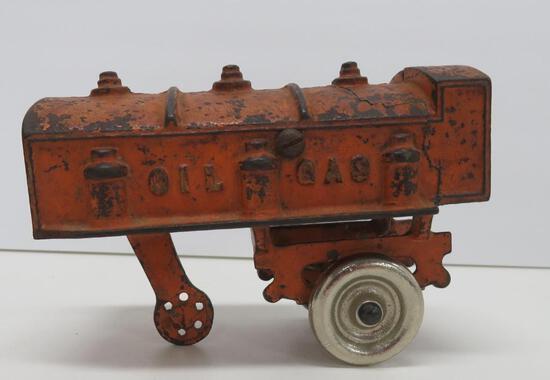 "Cast iron oil gas tanker, 5 1/2"""