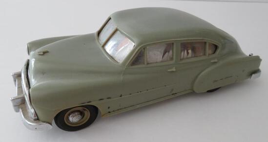 "Promo car plastic still bank, 8"","