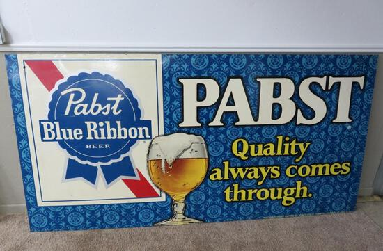 Great Large metal Pabst sign 4' x 8'