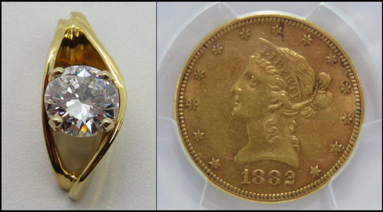 Online Jewelry and Coins Auction