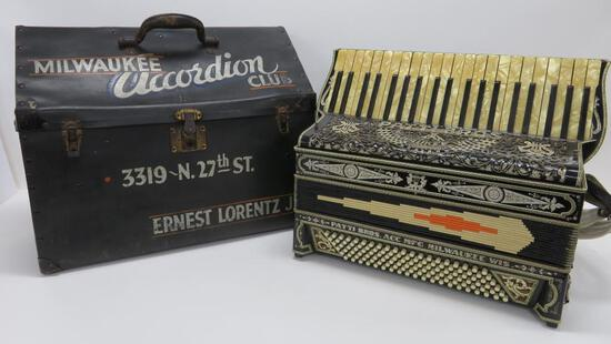 Milwaukee Accordion Club Patti Bros ornate accordion