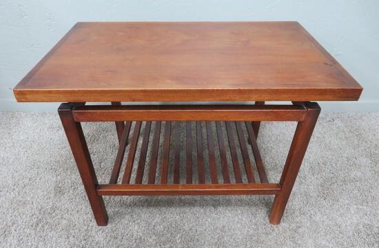 "Teak side table, Mid Century Modern, 29"" x 18"", 20"" tall"