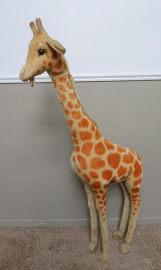 "57"" Steiff Studio Giraffe with button ear tag"