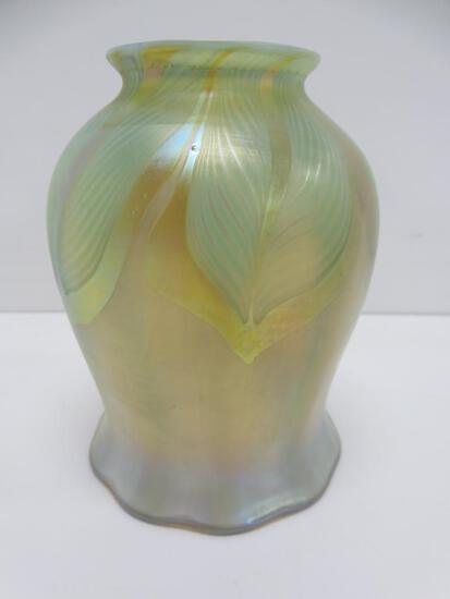 """Quezal art glass shade, 5"""""""