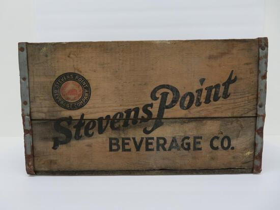 "Stevens Point Beverage Co wooden beverage box, 18"" x 12"""