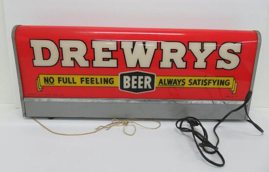 Drewrys lighted sign, code #121, South Bend Indiana, works, two sided