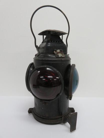 "Adlake Sweating Lamp, No Pac Railway, 15"", four lens three color"