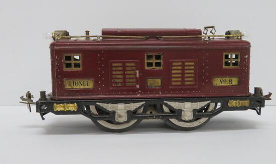 "Pre War Lionel Standard Gauge #8 Engine, 10"""