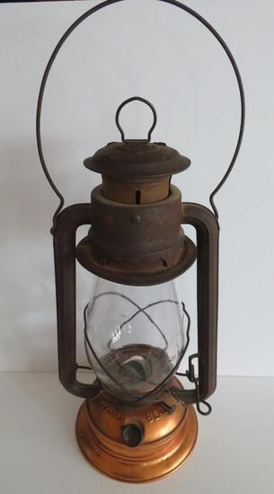 "Ham #2 Cold Blast oil lantern, copper bottom, 13"""