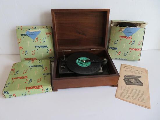 Thorens music box, working, discs