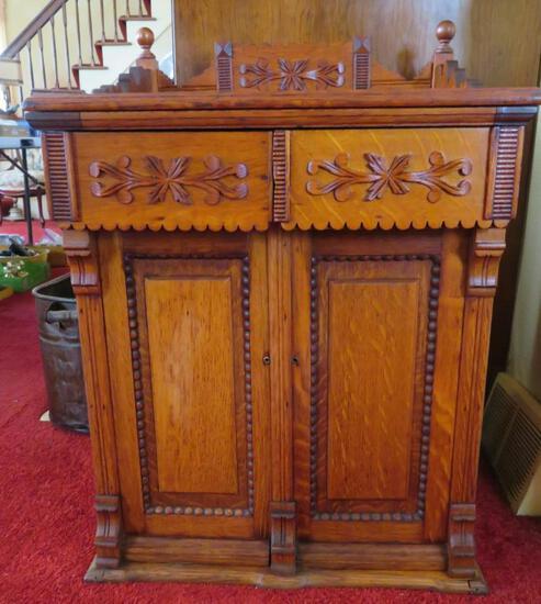 Ornate Oak cabinet