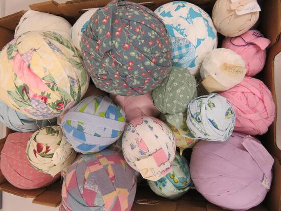"About 25 rag balls, 3"" to 6"" diameter"