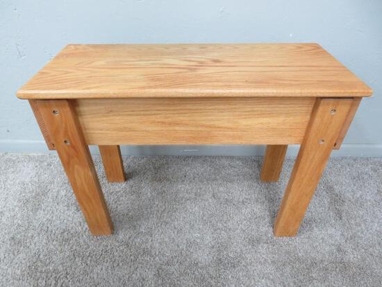 "Loom bench, 29"" x 12"", lift top, 22 1/2"" tall"