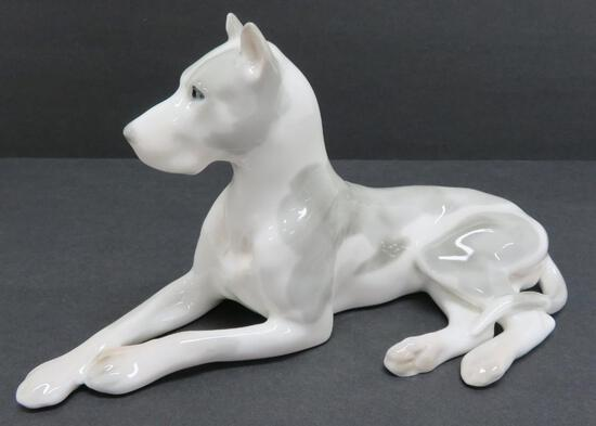 "Lomonosov Porcelain great dane figurine, 9"""