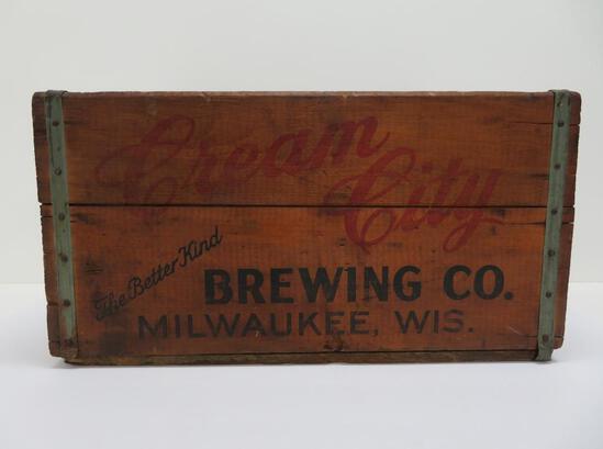 "Cream City Brewing Co wooden box, 19"" x 12"""