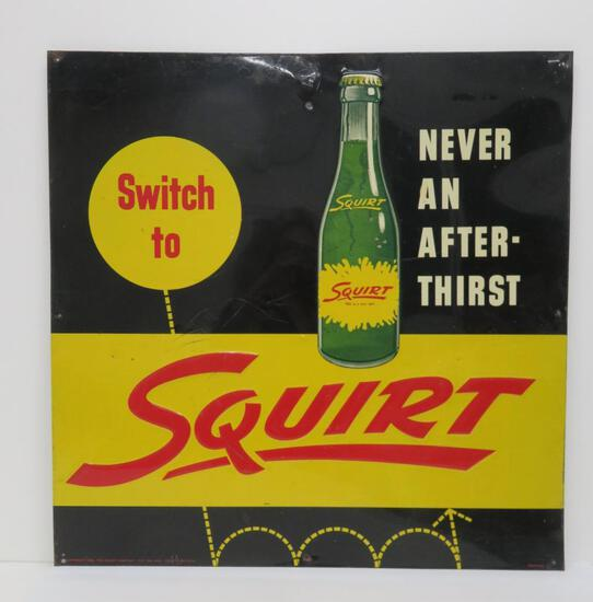 Nice 1956 Squirt metal sign, Switch to.., M-91, Robertson