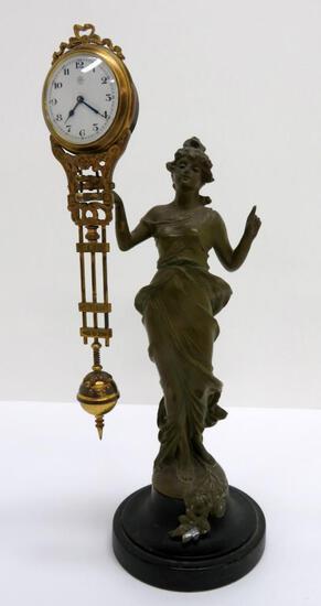 "Jonghans Diana Mystery clock, 13 1/2"""