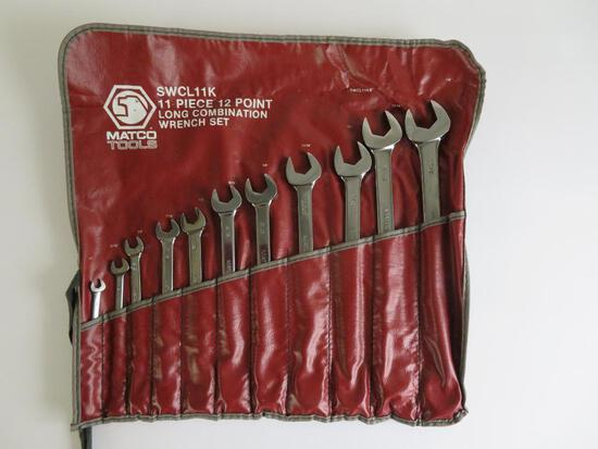 Matco Tools, 11 pieces 12 point Long Combination wrench set, WCL