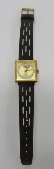 Vintage Brichot square face wrist watch, Swiss made, 17 jewel, working