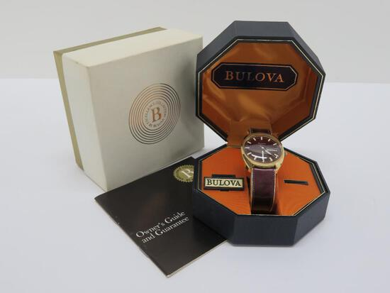 Men's Bulova automatic with box, whale on face