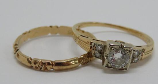 Vintage gold wedding set