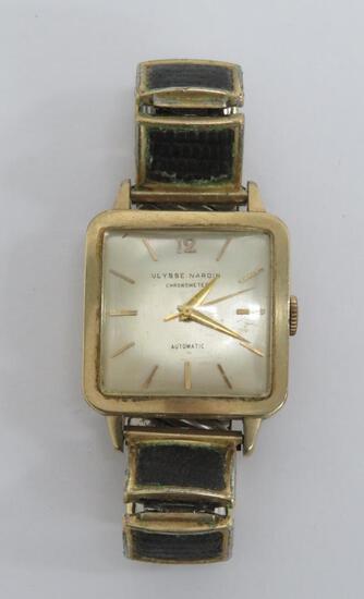 Ulysse Nardin Cronometer Automatic wrist watch, marked 10 K gold filled D & A