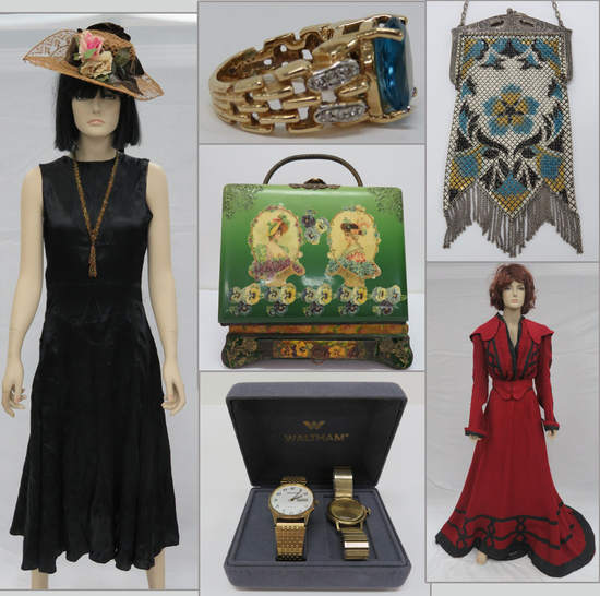 Period fashions, Jewelry, Purses, Hats, and More!