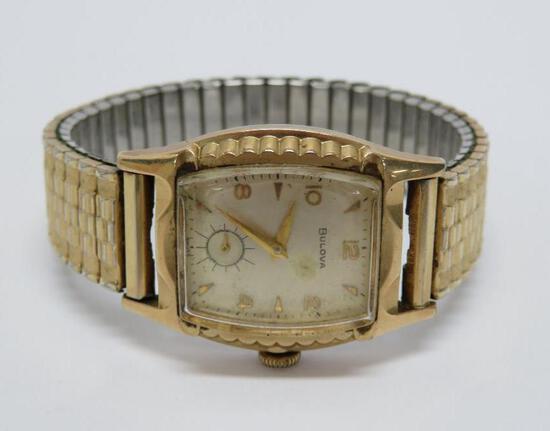 Bulova mens wristwatch with stretch band by Spiedel