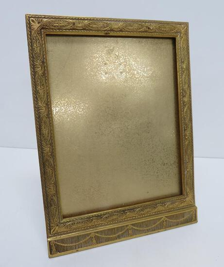 """Lovely ornate Tiffany Studios metal picture frame, 9"""" x 12"""""""