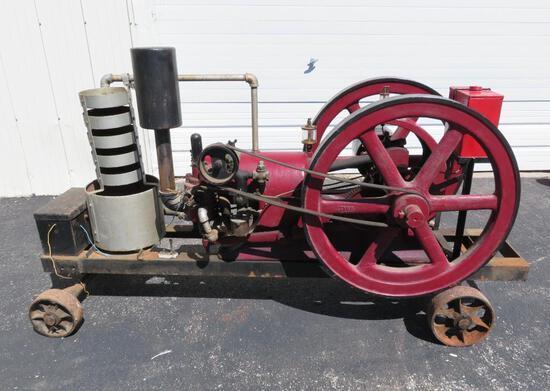 Samson Hit and Miss Engine on wagon, #4081, 6 HP