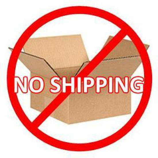 PLEASE NOTE - NO SHIPPING FOR THIS AUCTION!