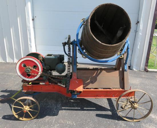 Taylor Vacuum Pump Hit and Miss Engine Cement Mixer, 2 hp