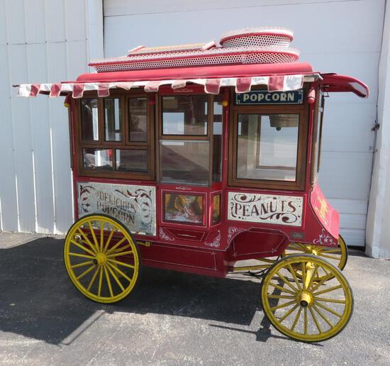 """""""Antique Popcorn Wagons, Chicago, Illinois"""" #003 Mini, with Cretor popper, replica of Cretor Model C"""