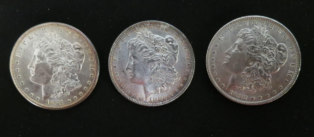 3 MORGANS 1881 - 1882