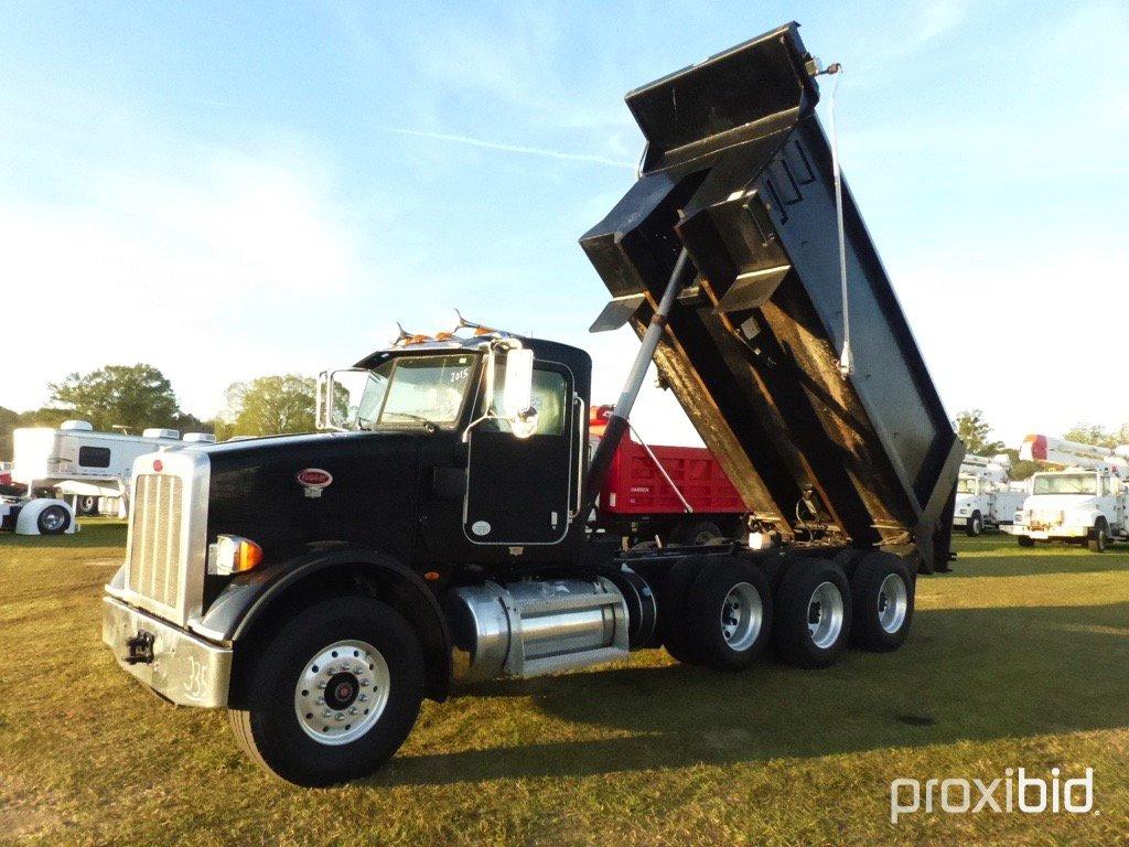 2015 Peterbilt 365 Tri-axle Dump Truck, s/n 1NPSX7TX7FD273968: ISX-450 Cumm