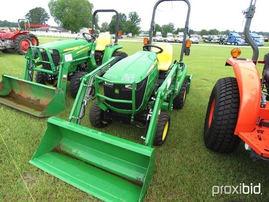 John Deere 1023E MFWD Tractor, s/n 1LV1023EJHH108469: Rollbar, JD D120 Load