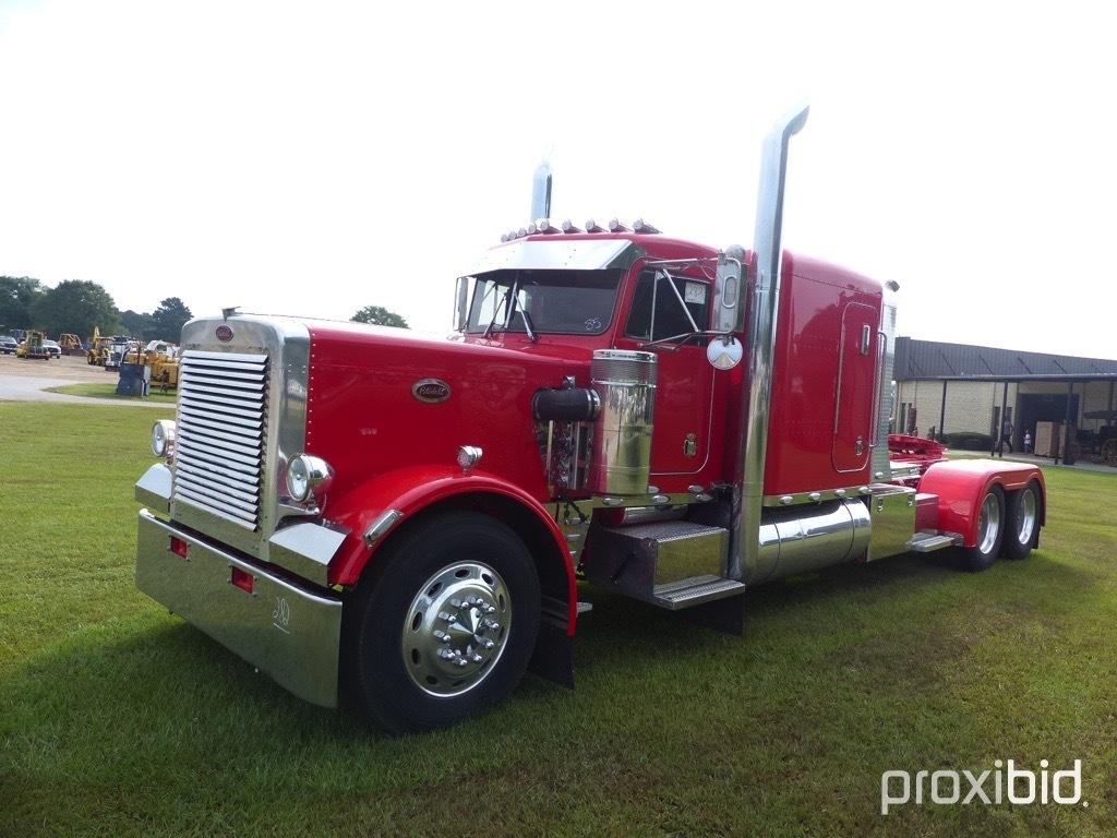 1985 Peterbilt 359 Truck Tractor, s/n 1XP9DB9X4FN179127: Ext. Hood, 90K mi.