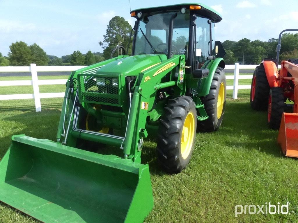 John Deere 5065M MFWD Tractor: C/A, Heat, Dual Remotes, Power Reverser, 540
