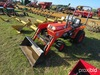 Kubota B1750 Tractor s/n 10071: 2wd Rollbar BushHog 1846QT Front Loader w/