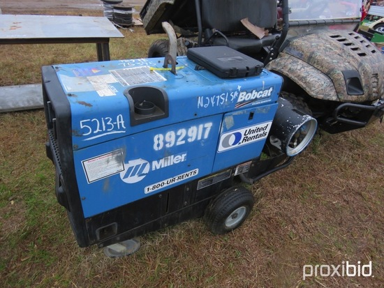 Miller Bobcat Welder Generator w/ Propane Tank