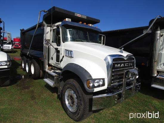 2018 Mack Granite GU713 Tri-axle Dump Truck, s/n 1M2AX07C2JM040053 (Title D